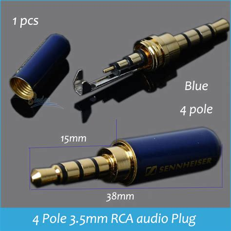 Jek Rca Gold 4 pole 3 5mm audio connector chinaprices net