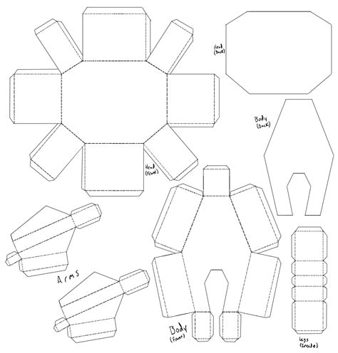 Blank Papercraft - blank person template cliparts co