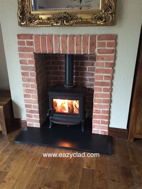 Brick Cladding For Fireplaces by Helpful Pictures Of Projects Carried Out Using Brick Slips Thin Brick Slips