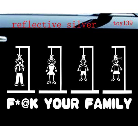 Witzige Aufkleber by F Your Family Stick Figures Car Window Funny Vinyl