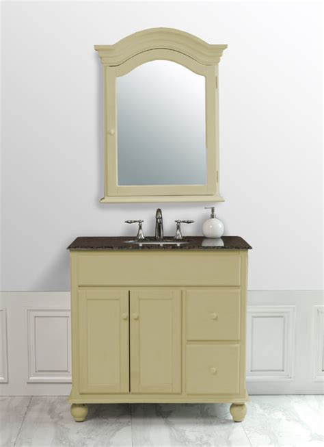 yellow bathroom vanity 36 inch yellow cream single sink vanity with baltic brown