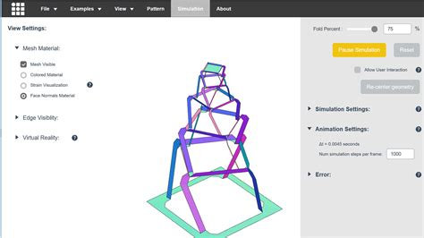 Origami Simulation - a web application quot origami simulator quot that can easily