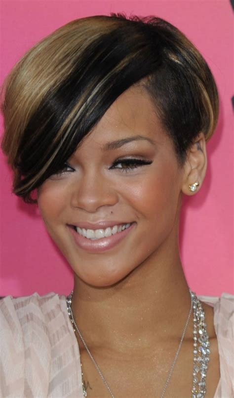 quirky hairstyles for short hair trendy and quirky pictures of rihanna s short hairstyles