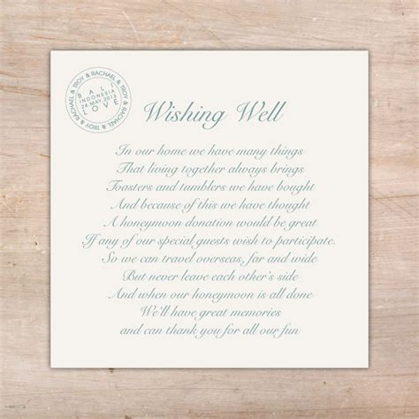 wedding wishing well wording destination wedding additional card s flamingo