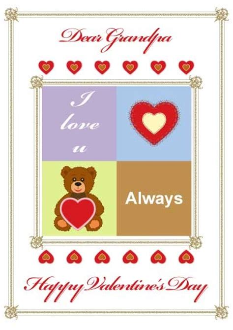 printable christmas cards for grandpa 66 best printable valentine cards images on pinterest