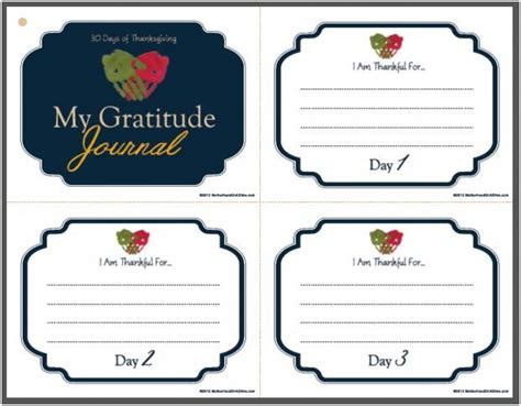 printable gratitude journal 7 best images of printable gratitude journal free