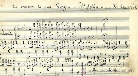 imagenes partituras antiguas partitura manuscrita la oraci 243 n de una virgen comprar