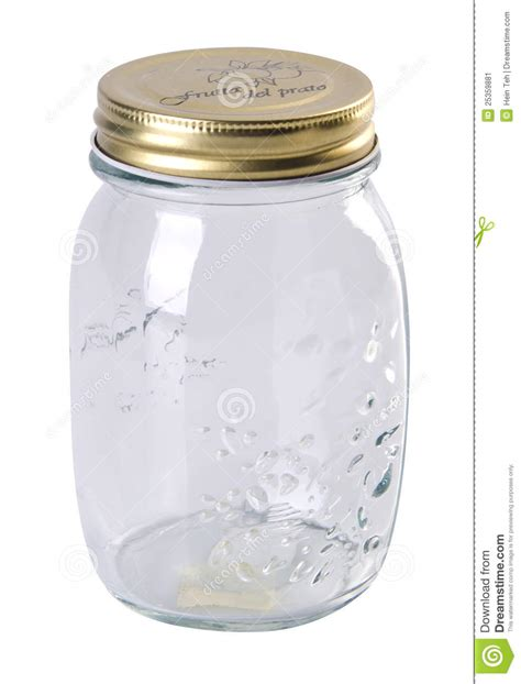 Kitchen Utensil Canister Clear Food Jar On The White Background Stock Image Image