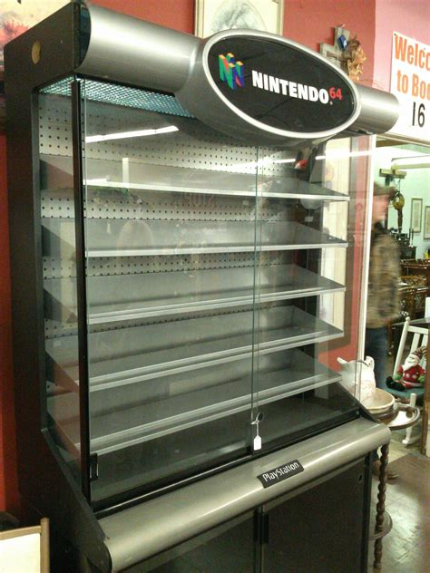 Found this awesome N64/Playstation retail display case at