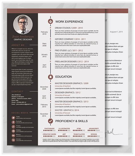 creative resume template docx 20 best resume template in 2015 graphicstoll