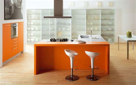Orange Color Kitchen Design Orange Kitchens