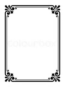 headshot border template simple ornamental dekorativ ramme stock vektor colourbox