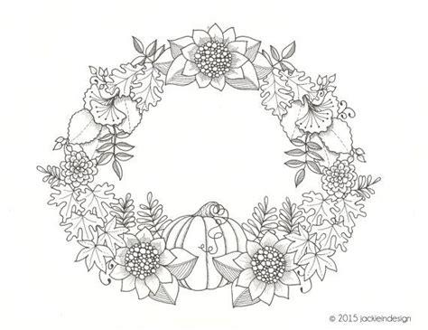 wreath coloring page fall wreath coloring page by jackieindesign coloring