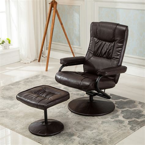 Recliner Footrest by Recliner Chair Swivel Armchair Lounge Seat W Footrest
