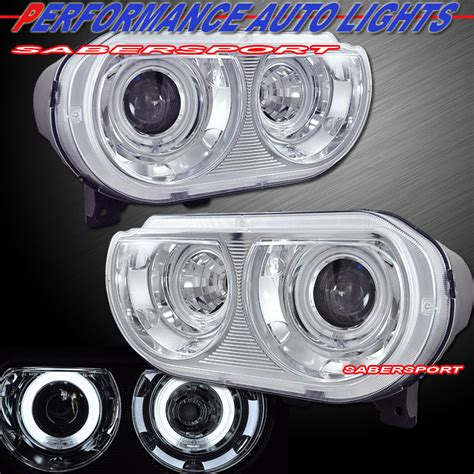 08 12 dodge challenger dual ccfl eye halo hid