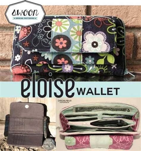 sewing pattern for zip around wallet eloise has a place for everything this wallet includes a