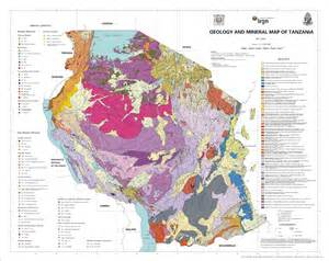 geological map of geological maps earth sciences institute of shinyanga esis