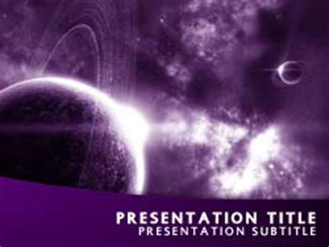 templates powerpoint universe royalty free universe powerpoint template in purple
