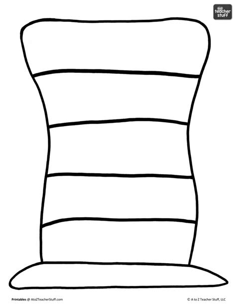 Dr Seuss Hat Coloring Page Snap Cara Org Hat To Color