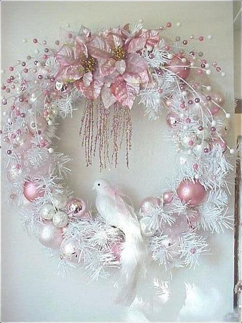 beautiful christmas wreath quot forever pink christmas