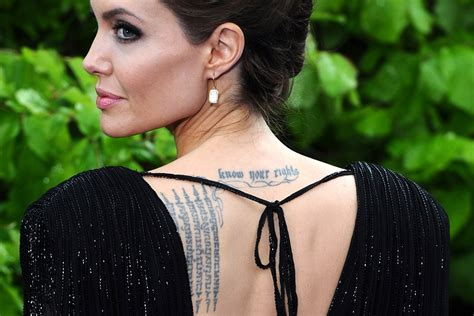 angelina jolie tattoo blut und eisen hot shots photos of the day angelina jolie eurovision