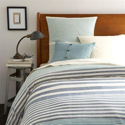 blue striped bedding steven alan blue stripe duvet cover and shams