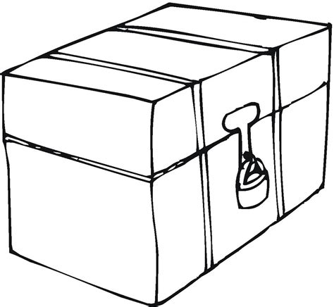 box coloring page color book
