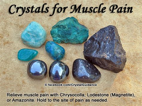 crystals  muscle pain crystal guidance