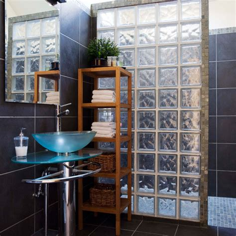 bathroom tile ideas 2011 glass bricks on pinterest