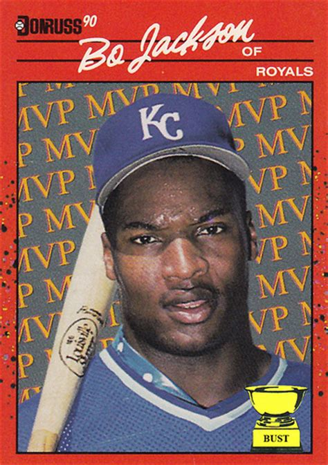 what makes a baseball card valuable baseball card bust bo jackson 1990 donruss mvp