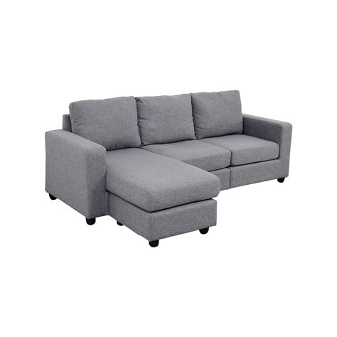l shaped couch with chaise 35 off grey l shaped chaise couch sofas