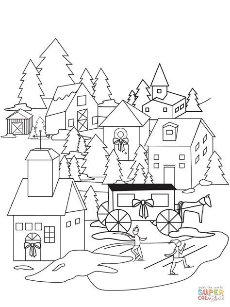 Village Coloring Pages at GetColorings.com | Free