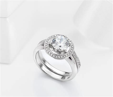 Wedding Rings Enhancers by Adding A Halo To A Solitaire Ring Enhancer Wedding Ring