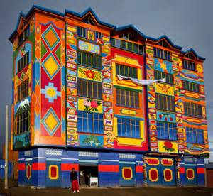 colorful house colorful apartment building in la paz bolivia