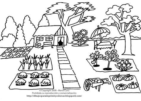 imagenes de huertas escolares para colorear dibujos para colorear dibujo de una casita con huerto