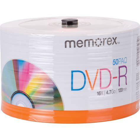 Memorex 4 7gb 16x Dvd R memorex dvd r 4 7gb 16x disc spindle pack of 50 32020031749