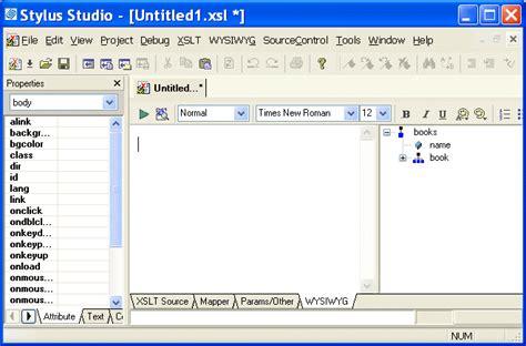 xsl layout editor getting started with the xslt wysiwyg editor