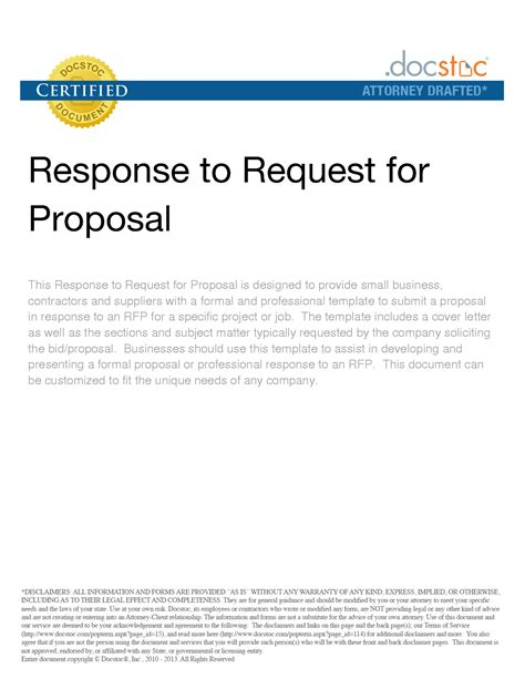 sle cover letter for response to request proposal