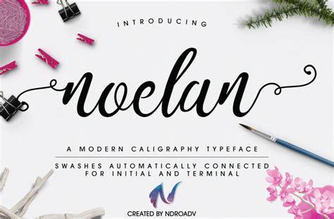 cursive font design online noelan script font befonts com