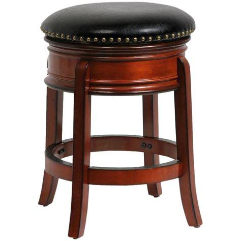 cushioned bar stool boraam hamilton 24 in brandy swivel cushioned bar stool 43224 the home depot
