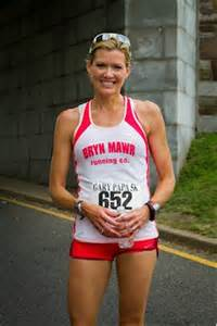 Cecily tynan suited up for the gary papa 5k which she runs every year