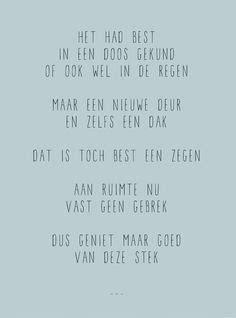 nieuw huis origineel cadeau 1000 images about teksten on pinterest dutch van and