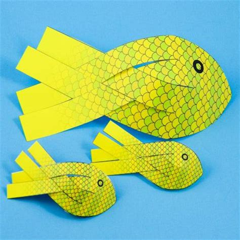 How To Make 3d Fish Out Of Paper - best 25 paper fish ideas on fish crafts fish