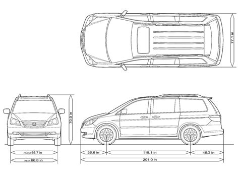 Honda Odyssey Interior Dimensions by Honda Odyssey Touring 2005 Picture 85 1600x1200