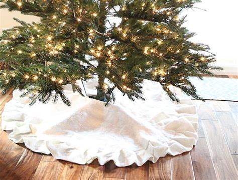 pleated burlap tree skirt diy