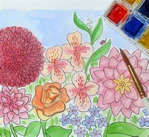 How To Draw A Garden With Flowers Learn To Draw Beautiful Waterscapes With Our Free Mixed Media Eguide The Craftsy