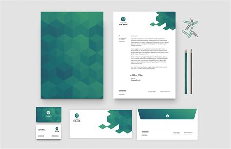 Free Business Card Letterhead Templates Medialoot Letterhead And Business Card Templates