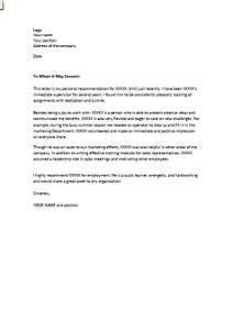 Lettre De Présentation En Anglais Famille D Accueil exemple de lettre de recommandation d un patron en anglais exemples de cv