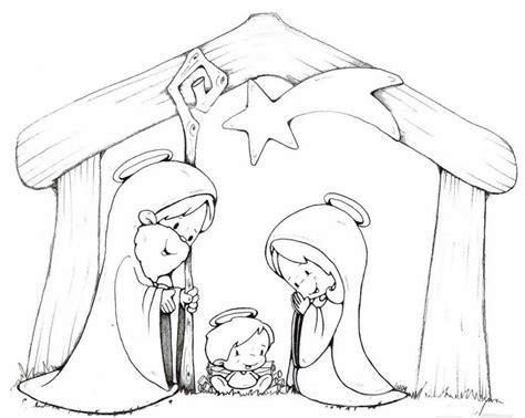 imagenes de siluetas del nacimiento de jesus nacimiento para colorear para ni 241 os buscar con google