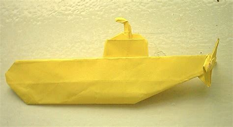 Origami Submarine - yellow submarine by mistro on deviantart